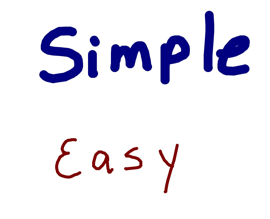 Simple Doesn't Mean Easy
